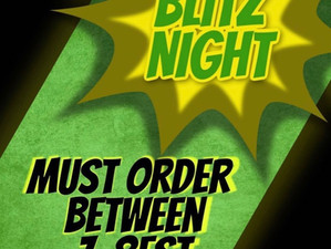 Blitz Night is Tonight!