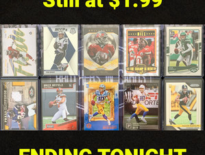 These ROOKIE cards are still at $1.99 and are ending tonight...