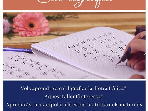 Taller de cal·ligrafia amb el professor Ramon Soler