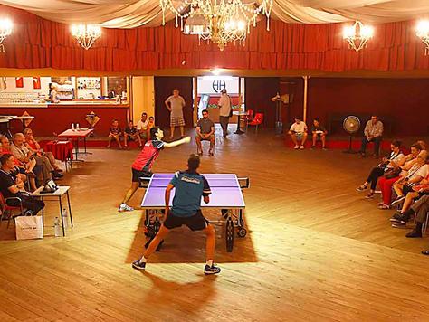 Exhibició de tennis taula Sant Roc 2021