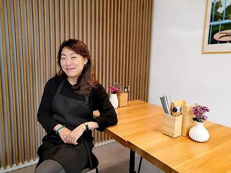 Jungmi Ha - Inhaberin des Bistro MISIK Koreanische Bio Feinkost