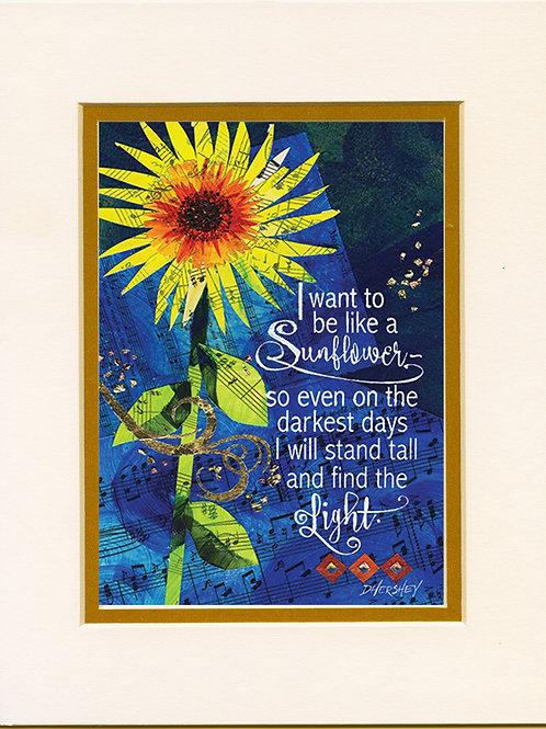 #209-Sunflower-Matted Print