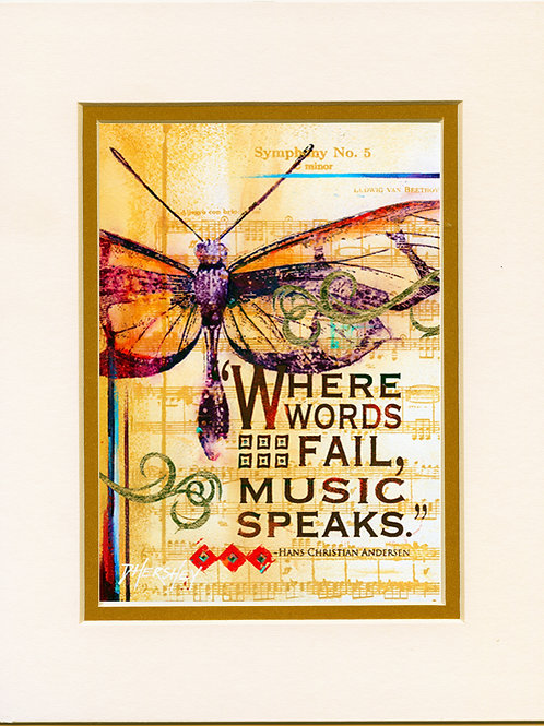 #192-Music Speaks-Matted Prints