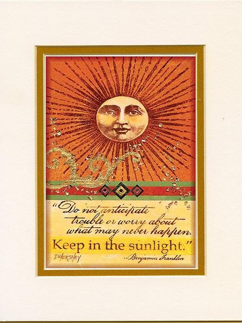 #143-Sun-Matted Print