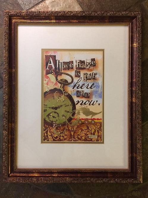 """""""All We Have""""~Framed Original Collage, 13-1/2"""" X 16-1/2"""""""
