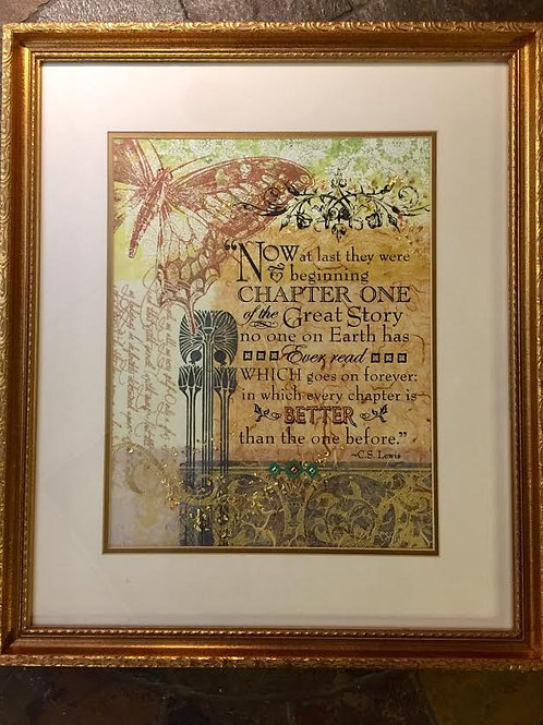 """Now at Last""~Original Collage, Framed, 18"" X 21"""