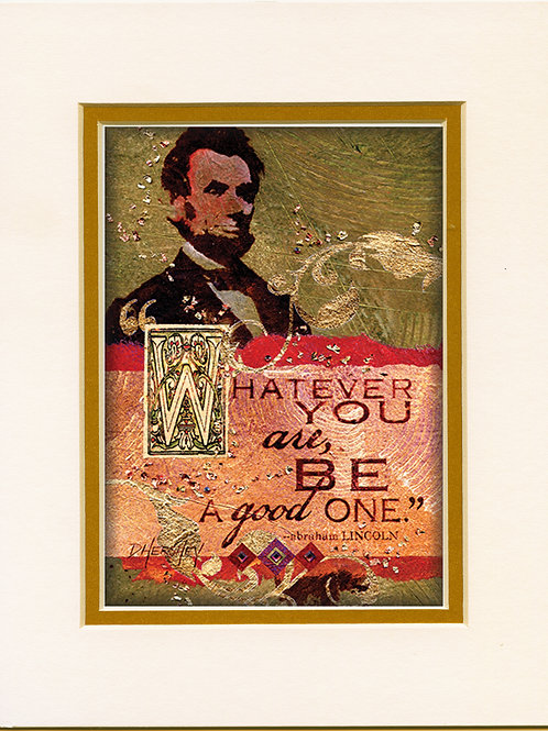 #157-Lincoln-Matted Print