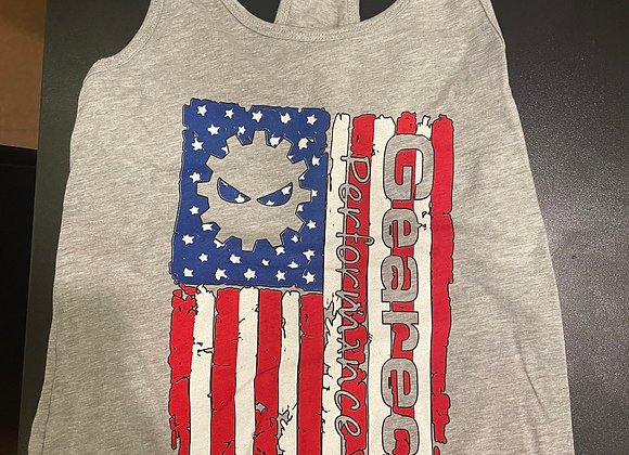 Geared Flag- Ladies Tank