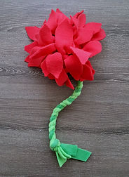 Red Flower Snuffle/Tug/Carry Toy