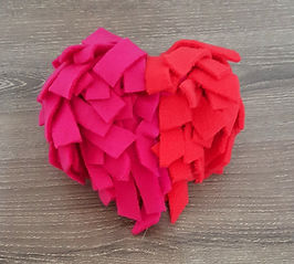 Bright Pink & Red Snuffle Heart Dog Toy