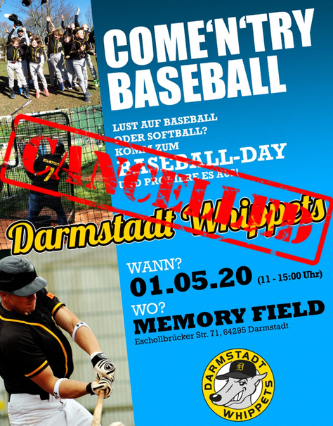 👉 Baseball Day abgesagt! 👈