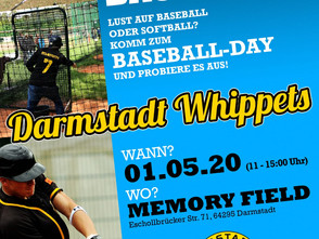 "Darmstadt Whippets feiern ""Baseball Day 2020"" mit starken Partnern!"