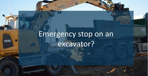 Emergency stop in earth moving machinery.