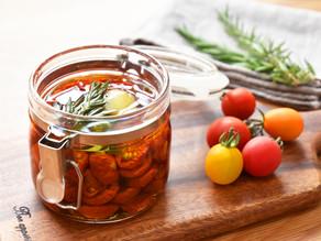 【夏~秋のレシピ】セミドライトマトのオイル漬け