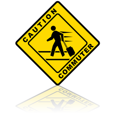 Caution Commuter Sticker