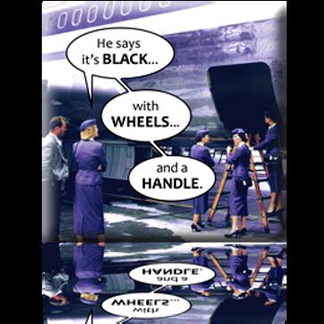 Black Wheels Handle Magnet