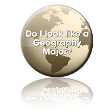 Geography Major Button