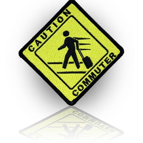 Caution Communter Patch