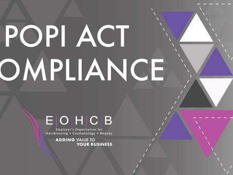 PROTECTION OF PERSONAL INFORMATION (POPI) COMPLIANCE UPDATE