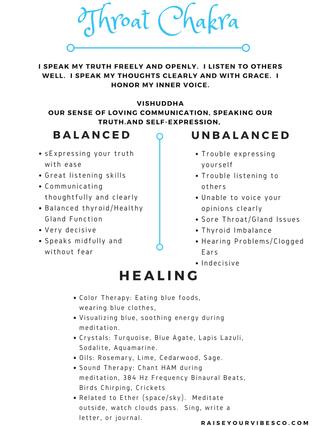 Throat Chakra Healing & Self Care