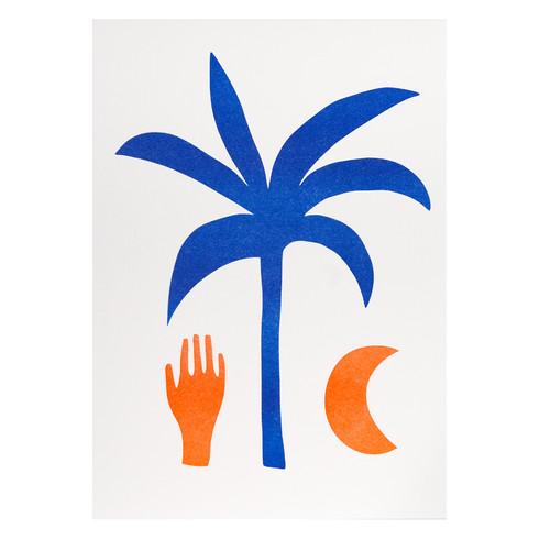 Silvia Visscher Risograph A4 Palm (blue-neon).jpg