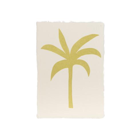 Silvia Visscher Screenprint A5 Palm (gold).jpg