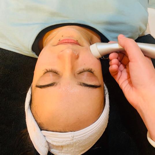 Electro infusion facial.
