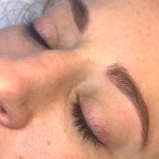 Eyeliner tattoo.