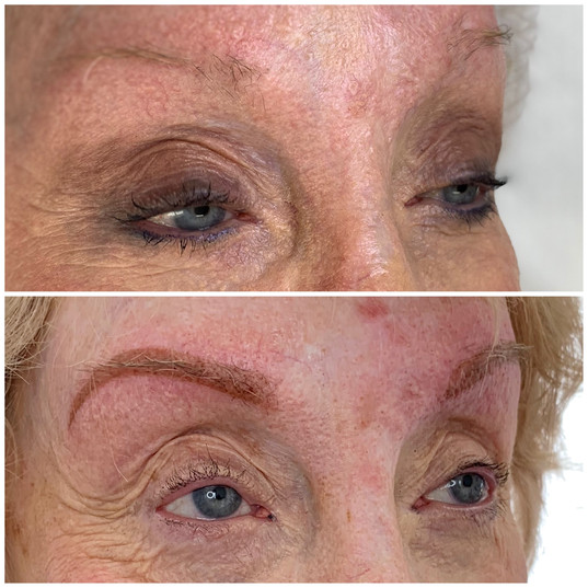 Powder brows on very sensitive skin_