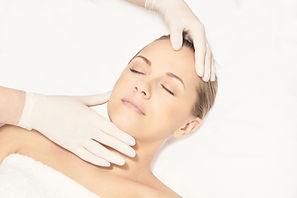 Facial face spa cosmetology procedure. S