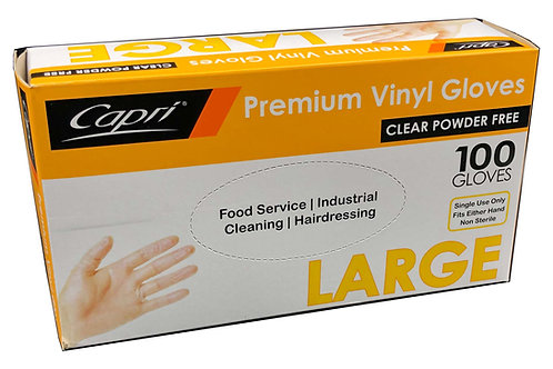 Premium Vinyl Gloves Size L