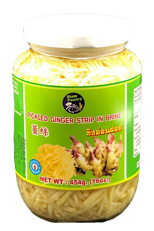 Pickled Ginger Strip in Brine 454 grams