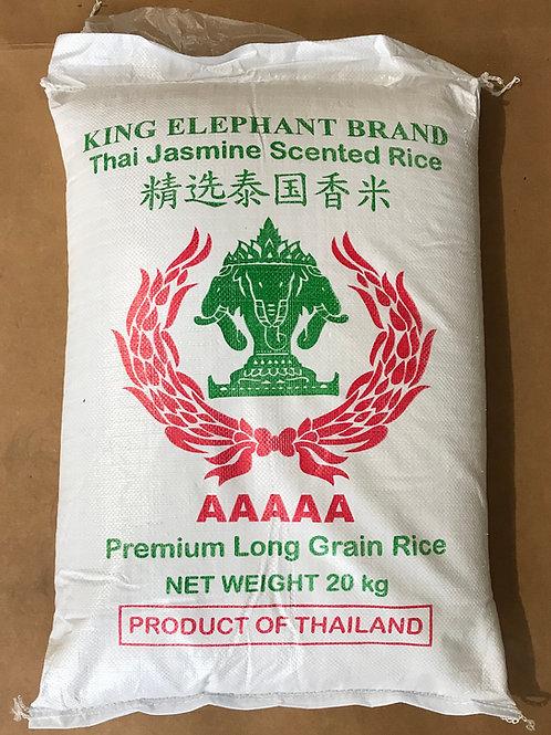 King Elephant Thai Jasmine Scented Rice 20 kgs