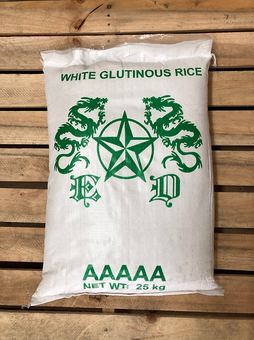 White Glutinous Rice 25 KGs