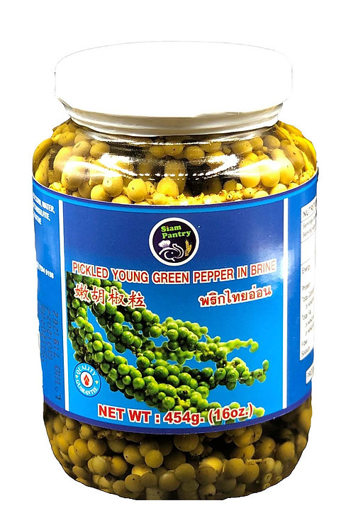 Pickled Young Green Pepper in Brine 454 grams