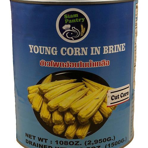 Young Corn in Brine 2950 grams CUT