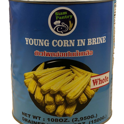 Young Corn in Brine 2950 grams WHOLE