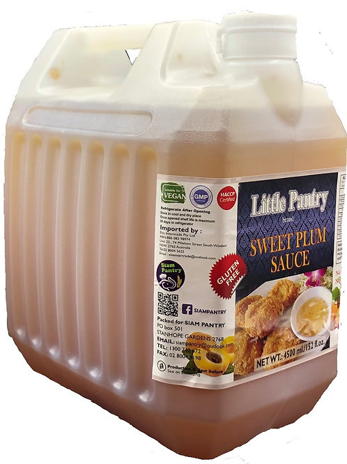 Gluten Free Sweet Plum Sauce 4500 ml