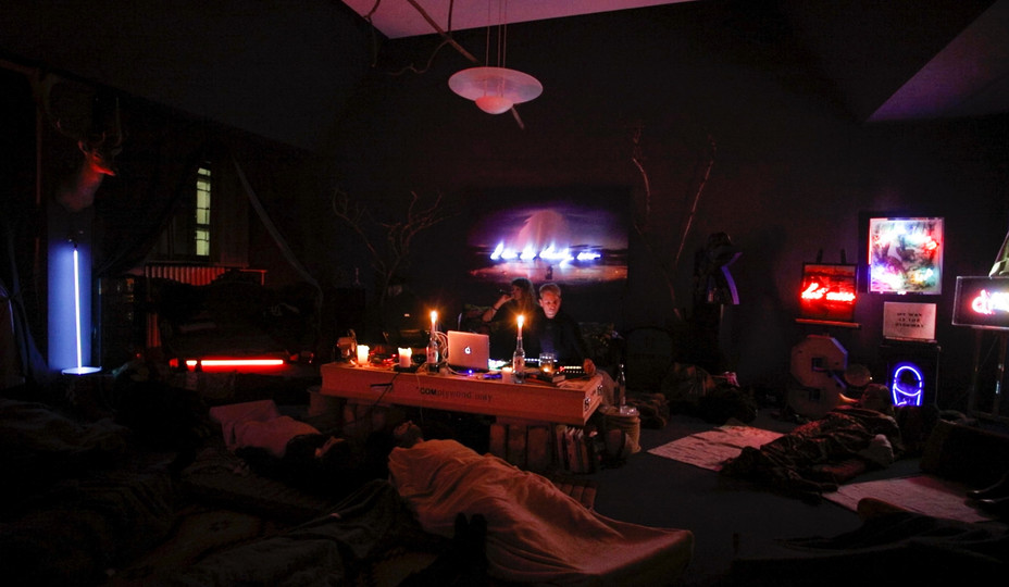privat happening at artist studio, Olivia Steele.