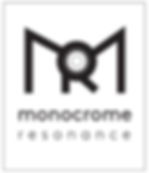 Monocrome resonance logo transparent bac