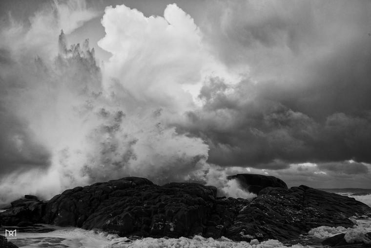 Winterstorm at Hemnes, Karmøy