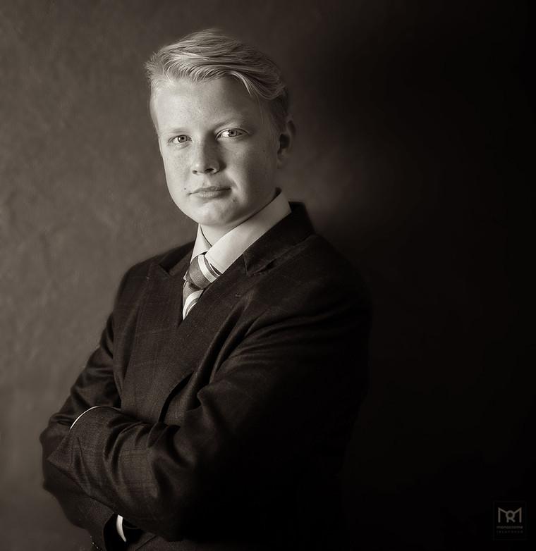 Confirmation portraits Marius Rossebø