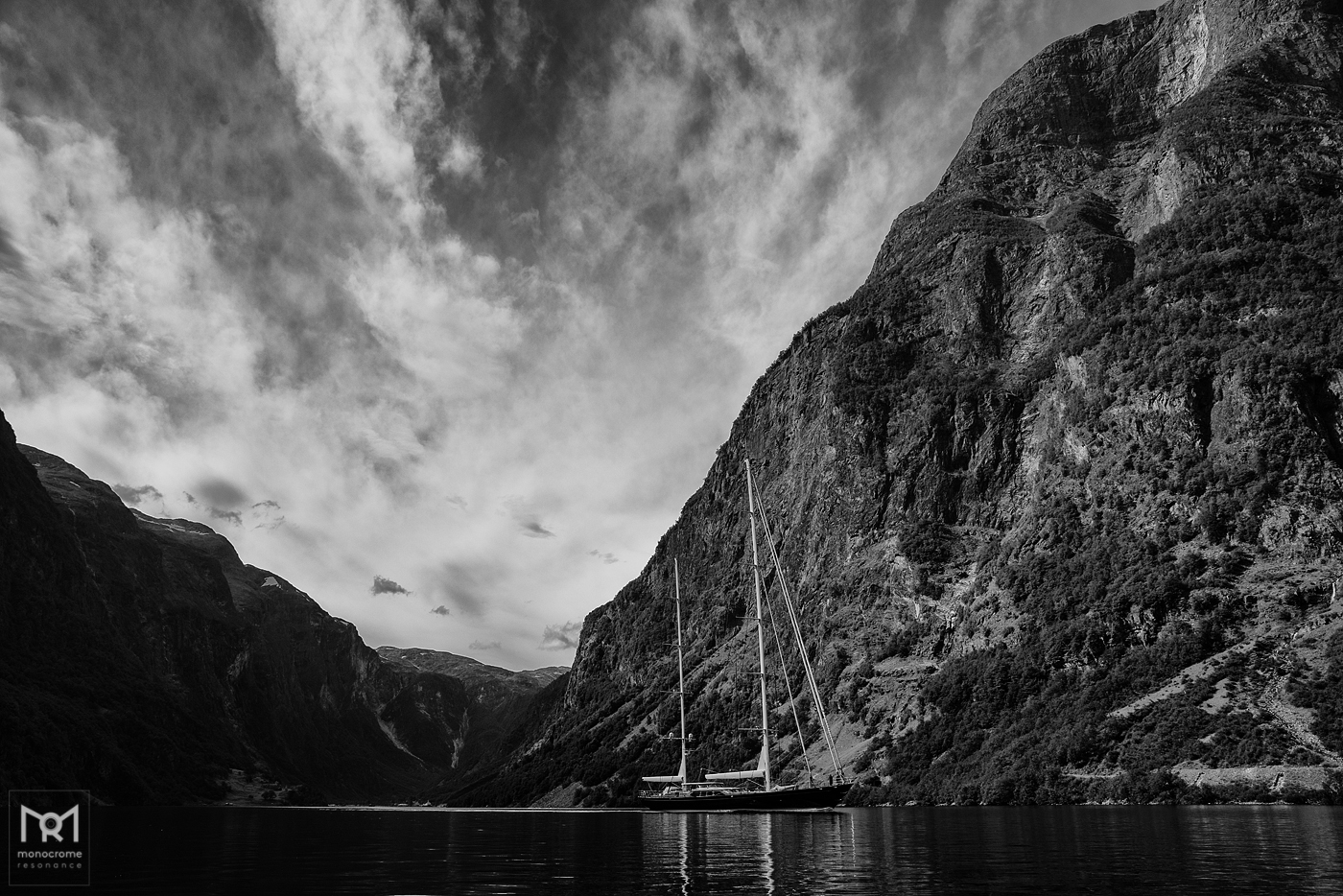 Sailing out from Gudvangen