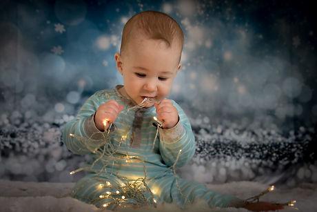 baby at christmas