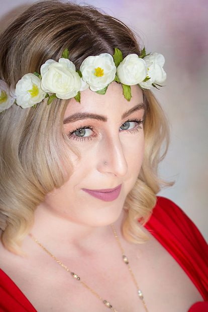 Flower crown head shot