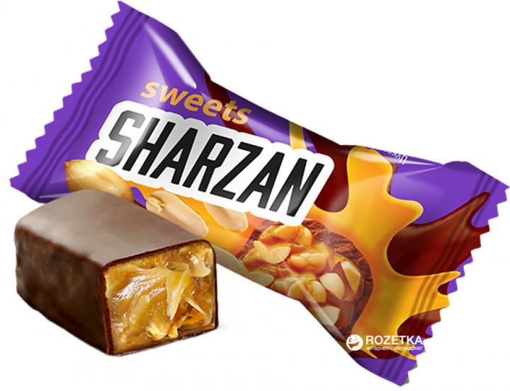 Sharzan (1,0) (Földimogyorós (9%) karamell (toffee) desszert bevont kocka)