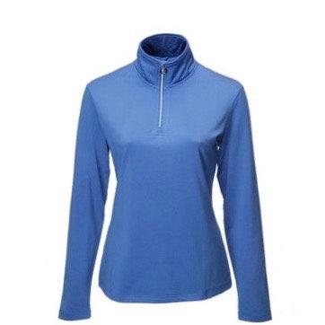 JRB Womens Golf 1/4 Zipped Roll Neck - Amparo Blue