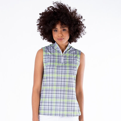 Nivo Cleo Sleeveless Mesh Mock Polo Shirt
