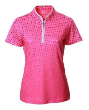 JRB Women's Pink Spot Polo Shirt