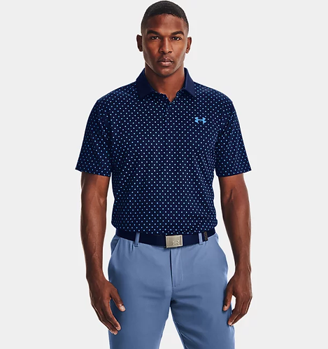 Under Armour Performance Printed Polo, Navy (408)